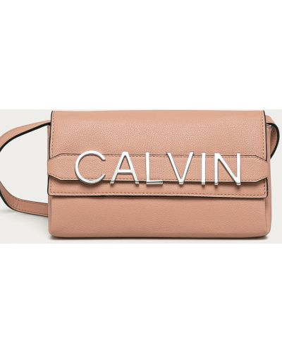 Różowa kopertówka Calvin Klein