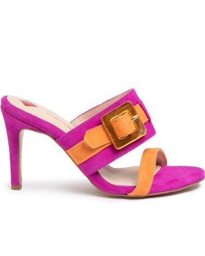 Шлепанцы на каблуке - розовые Maccioni