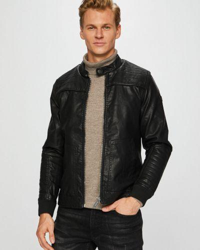 Кожаная куртка укороченная прямая Blend