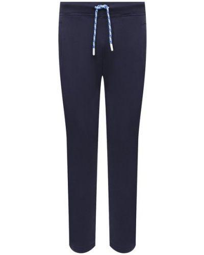 Прямые трикотажные синие брюки Jacob Cohen