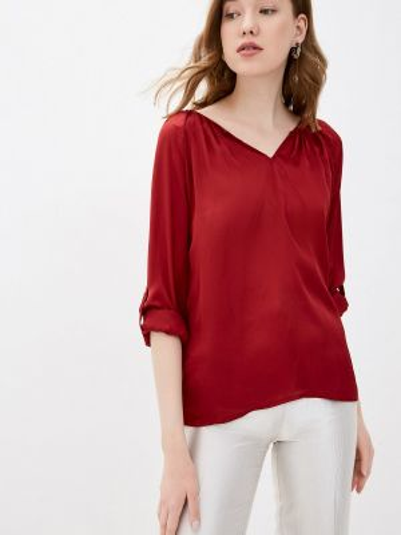 Красная блузка с длинным рукавом Zabaione