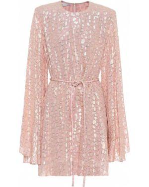 Платье мини розовое baby doll Stella Mccartney