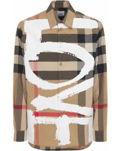 Beżowy bawełna koszula z mankietami Burberry