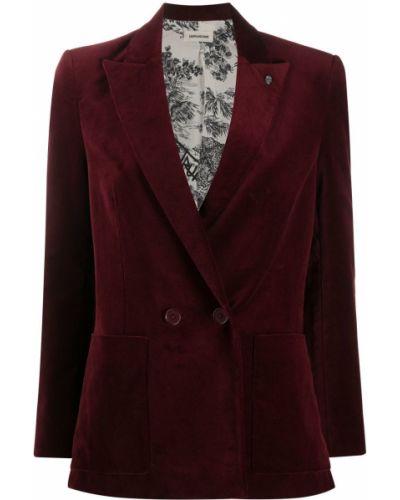 Однобортный красный классический пиджак на пуговицах Zadig&voltaire