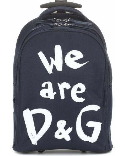 Niebieska walizka Dolce & Gabbana Kids