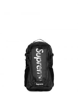 Czarny plecak z printem Supreme