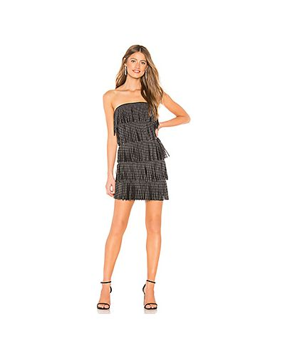 Платье миди с бахромой с декольте By The Way.