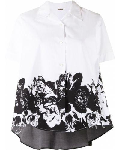 Хлопковая белая рубашка с короткими рукавами Adam Lippes