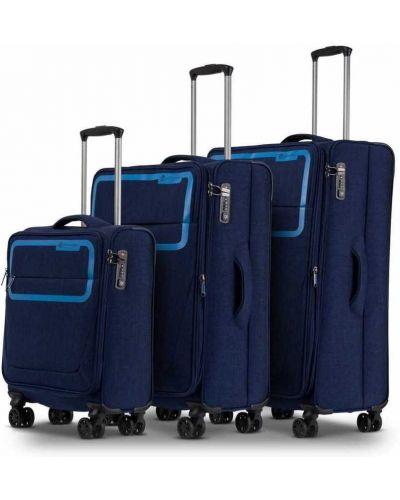 Walizka kabinowa materiałowa - niebieska Conwood