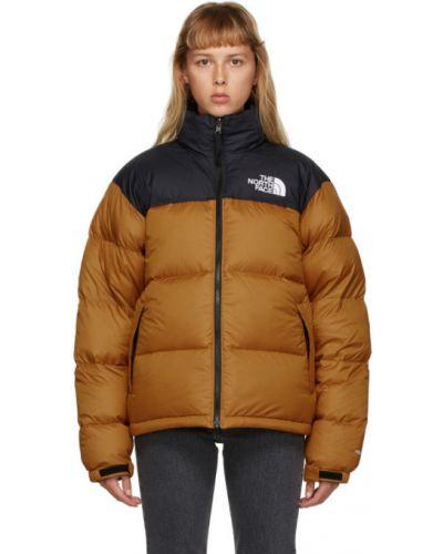 Черная нейлоновая стеганая куртка с манжетами с подкладкой The North Face