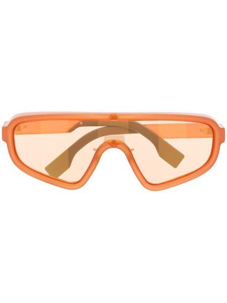 Оранжевые солнцезащитные очки с заклепками Fendi Eyewear