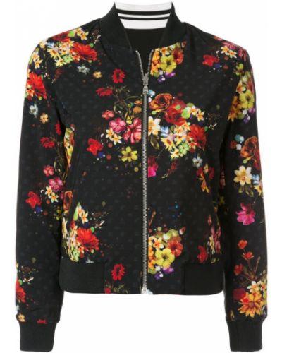 Куртка черная с цветочным принтом Loveless