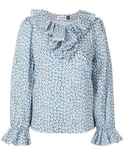 Niebieska bluzka bawełniana Rixo