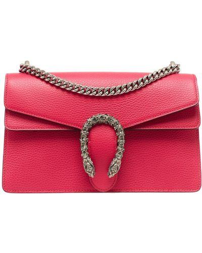 Розовая кожаный сумка Gucci