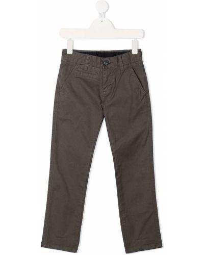 Прямые серые брюки на молнии Sun 68