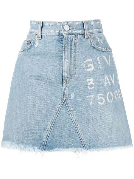 Bawełna bawełna dżinsowa spódnica z kieszeniami Givenchy