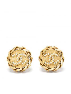 Złote kolczyki Chanel Pre-owned