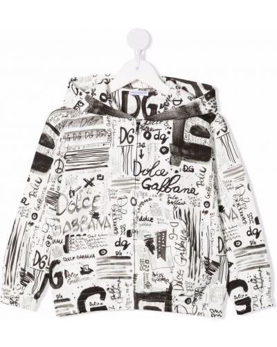 Biały klasyczny sweter Dolce & Gabbana Kids