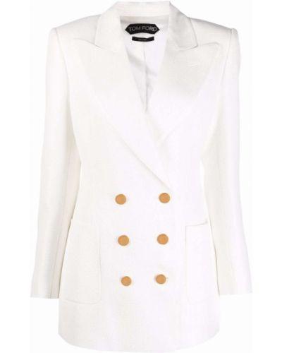 Белый пиджак из полиэстера Tom Ford