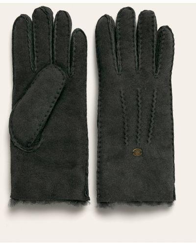 Кожаные перчатки замшевые серые Emu Australia