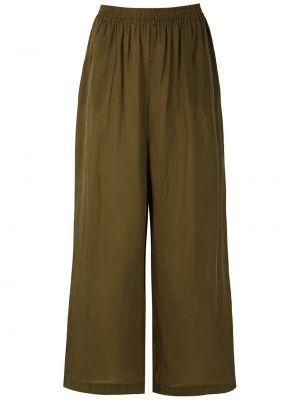 Свободные зеленые укороченные брюки с карманами свободного кроя Osklen