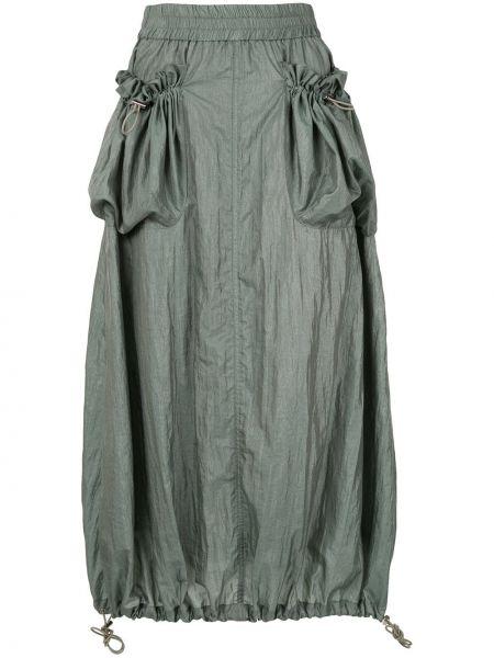 Зеленая нейлоновая юбка с поясом с завязками G.v.g.v.