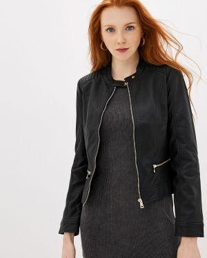 Кожаная куртка черная осенняя Pimkie