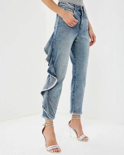 Голубые джинсы с высокой посадкой Lost Ink.