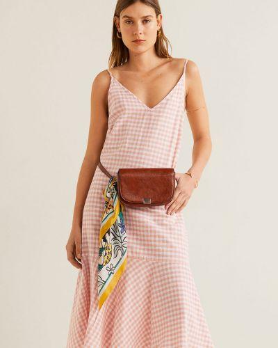 Платье с поясом длинное на бретелях Mango
