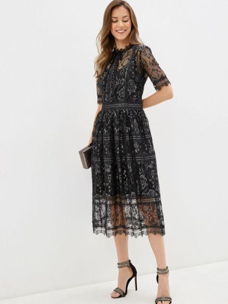 Вечернее платье черное весеннее Lusio