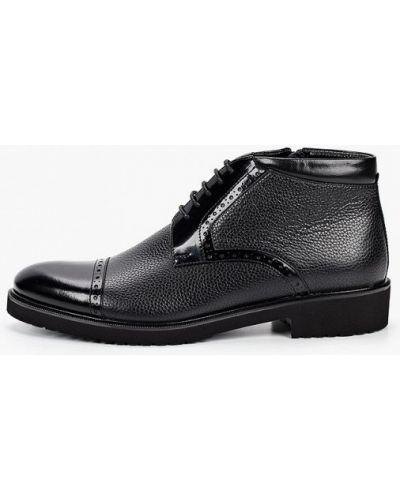 Черные кожаные ботинки El'rosso