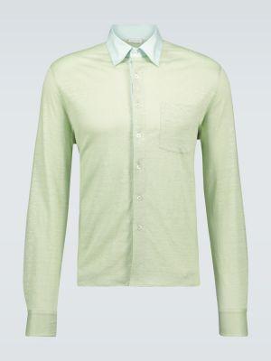 Облегченная рубашка с воротником мятная Caruso