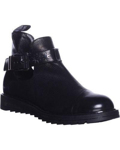 Кожаные ботинки осенние черный Love Moschino