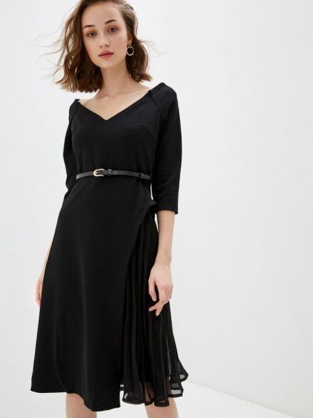 Вечернее платье черное весеннее City Goddess