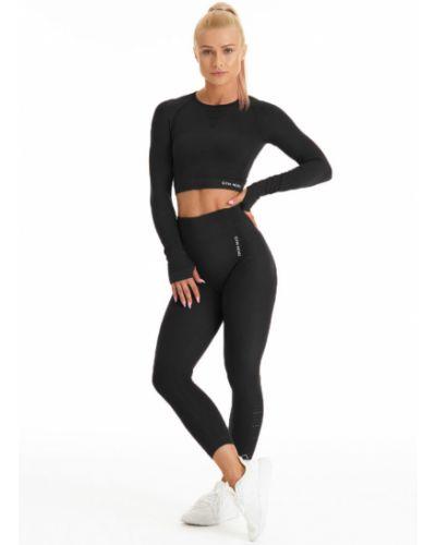 Черные брюки на резинке с поясом с открытым носком Gym Hero