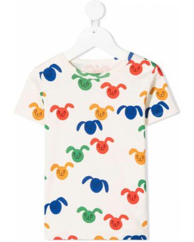 T-shirt bawełniany krótki rękaw z printem Mini Rodini
