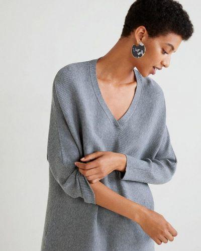 Серый пуловер Mango