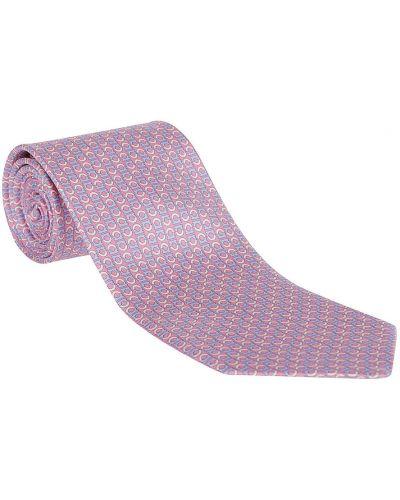 Różowy krawat Salvatore Ferragamo