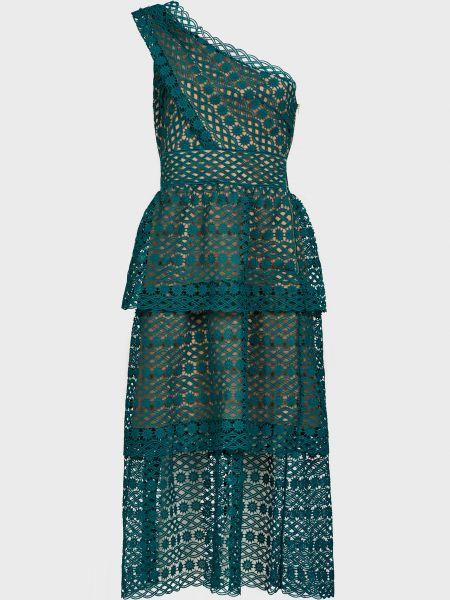Платье на молнии - зеленое Self-portrait