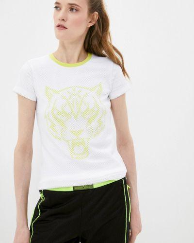 Белая спортивная футболка с короткими рукавами Plein Sport