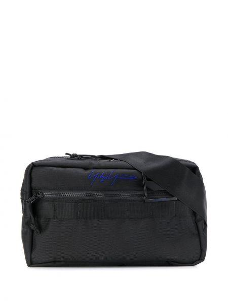 Czarna torebka z haftem Yohji Yamamoto