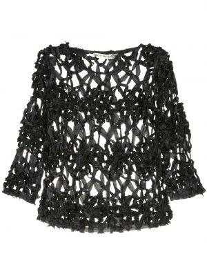 Нейлоновый черный топ винтажный свободного кроя Comme Des Garçons Pre-owned