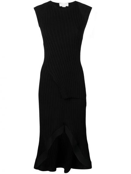 Платье миди с баской черное Esteban Cortazar