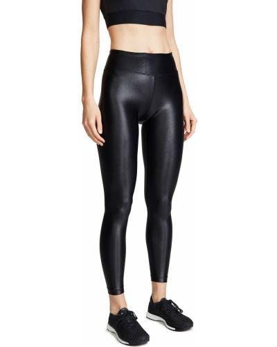 Трикотажные черные леггинсы стрейч Koral Activewear