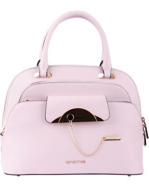 Розовая кожаная сумка Cromia