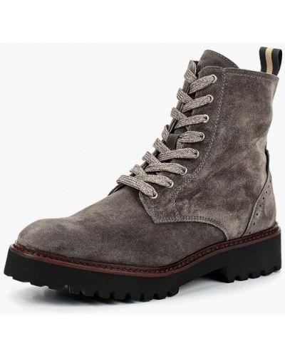 Ботинки на каблуке осенние замшевые Marc O'polo