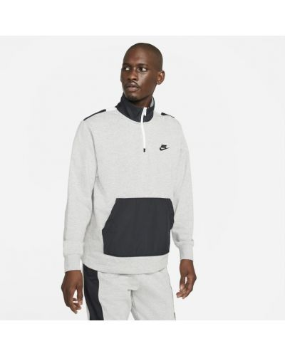 Szary t-shirt na co dzień oversize Nike