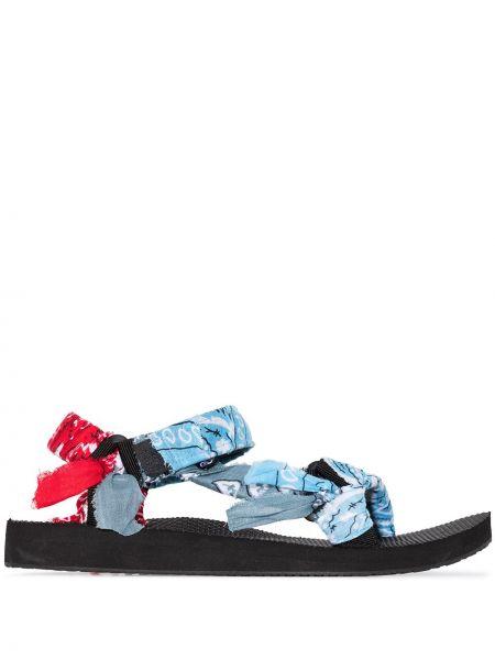 Niebieski włókienniczy sandały Arizona Love