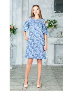 Летнее платье с цветочным принтом на резинке Victoria Filippova