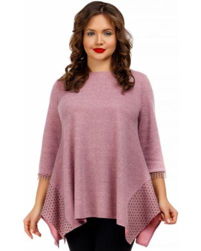 Трикотажная туника - розовая Liza Fashion